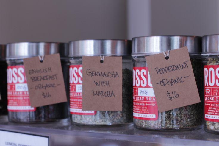 Jars of Loose Leaf Tea