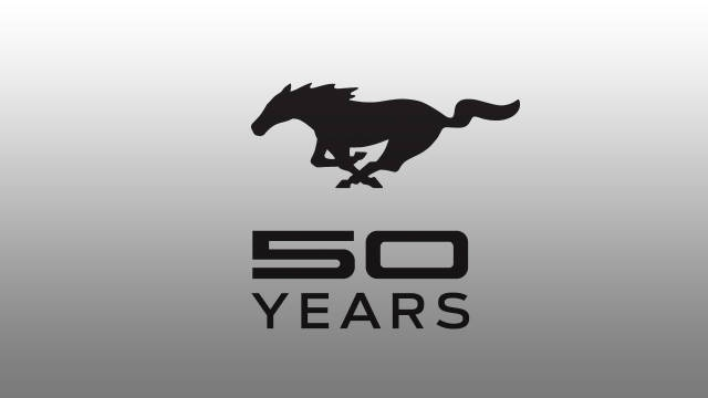 Ford Motor Co. has unveiled a special anniversary logo to commemorate the Mustangs 50th anniversary.