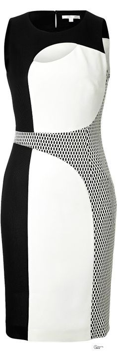 Paule Ka ● Mod black and white colorblock Dress ~ what to wear to a Wedding ?