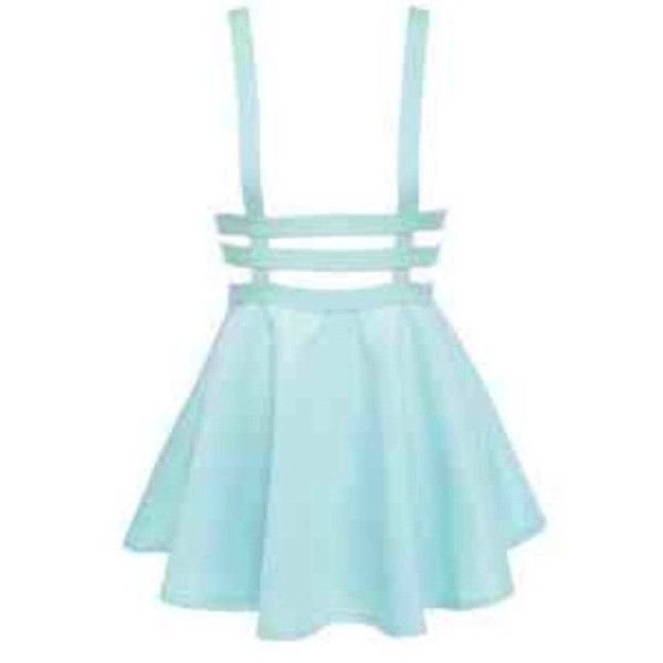 Blue Suspender Skirt Pastel Goth Alternative featuring polyvore, fashion, clothing, skirts, lullabies, black and women's clothing