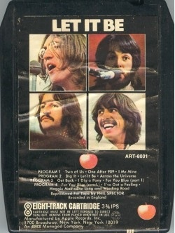 8 track tapes - notice the red apple and not the green one.