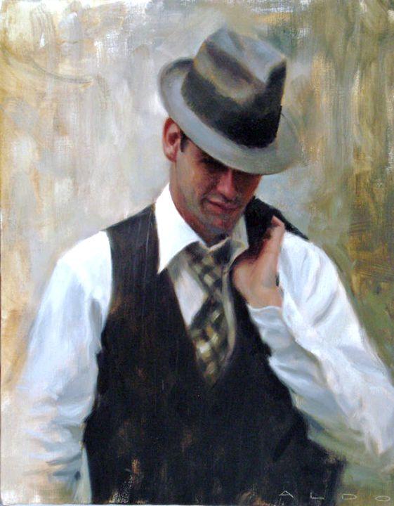 """Aldo Balding (British, born 1960) """"Study for Due Uomini"""""""