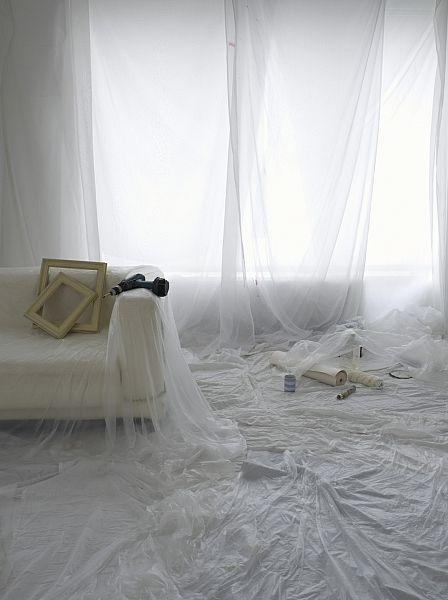 Čím zakrýt nábytek při malování
