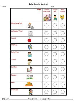 Top 25+ best Behavior contract ideas on Pinterest | Classroom ...