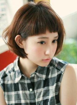 大人可愛い眉上パッツンバングボブ☆/LUMDERICAの髪型・ヘアスタイルカタログ