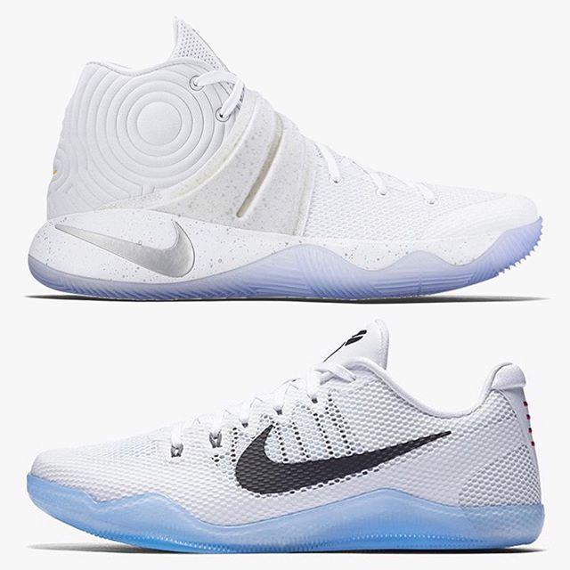 """👆Top or Bottom👇❓ ❄️ Nike Kyrie 2 """"Silver Speckle"""" vs. Kobe 11 """"Fundamental"""""""