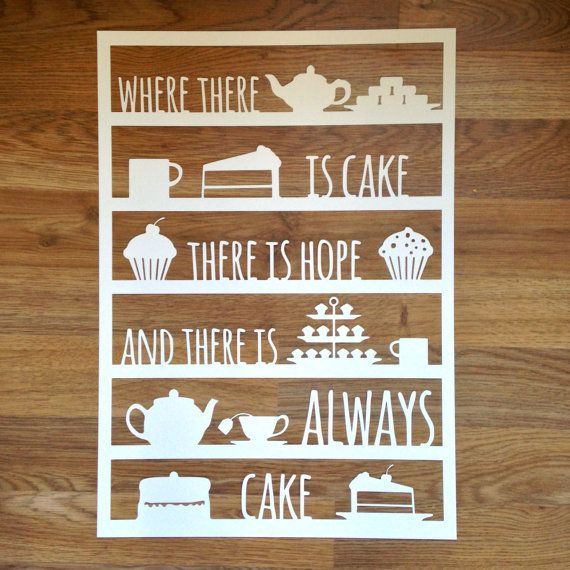 Where There Is Cake There Is Hope Papercut by ThePaperarty on Etsy