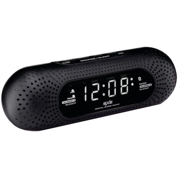 SXE SXE86002 Bluetooth(R) Speaker Dual Alarm Clock Radio