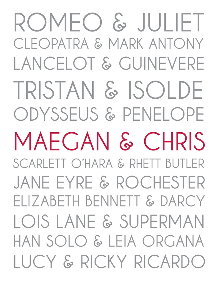 $13 Couples personalized art - great for a wedding present.