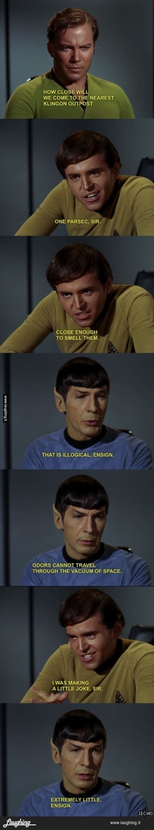 """a little joke, extremely little - one of my most favorite Chekov/Spock moments ever :D """"The Trouble With Tribbles"""""""