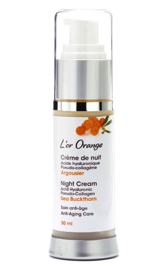 SEA BUCKTHORN NIGHT CREAM - This 100 % natural Sea Buckthorn Facial Night Cream activates the natural process of night-time regeneration and strengthens the protective hydrolipidic film.  #seabuckthorn #nigthcream #naturalskincare