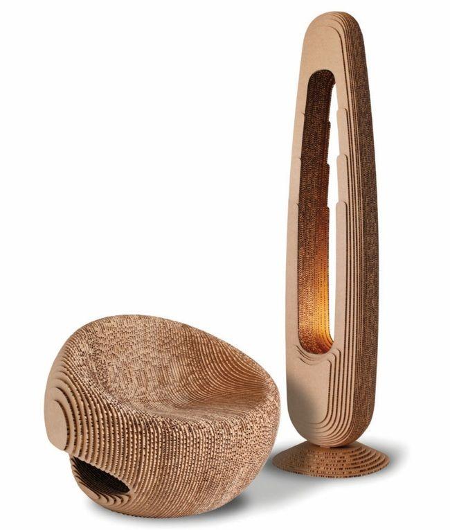 Stuhl Stehlampe Karton Möbel Stilvoll