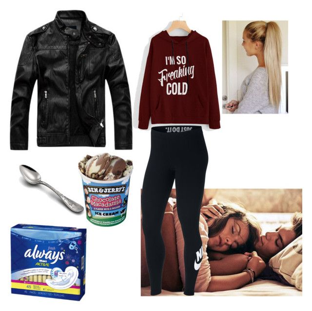 """""""Period/Aunt Flo/Shark Week"""" by caelan-g-chapman on Polyvore featuring Tiffany & Co. and NIKE"""