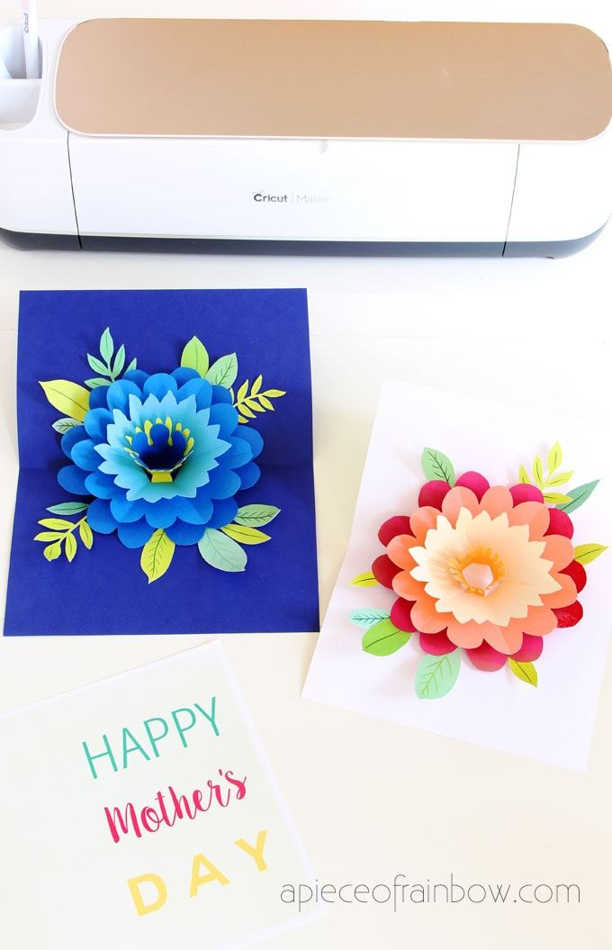 Diy Happy Mother S Day Card With Pop Up Flower Diy Happy