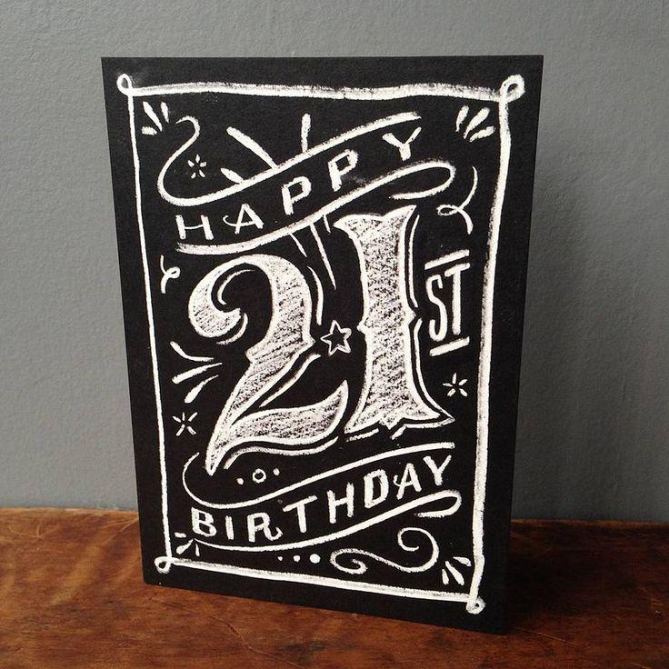 Happy Birthday Chalkboard, Chalkboard Art