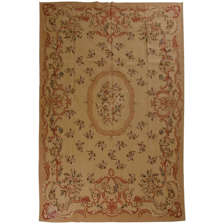 6 x 9   New Chinese Aubusson Rug   From a unique collection of antique and modern chinese and east asian rugs at https://www.1stdibs.com/furniture/rugs-carpets/chinese-rugs/