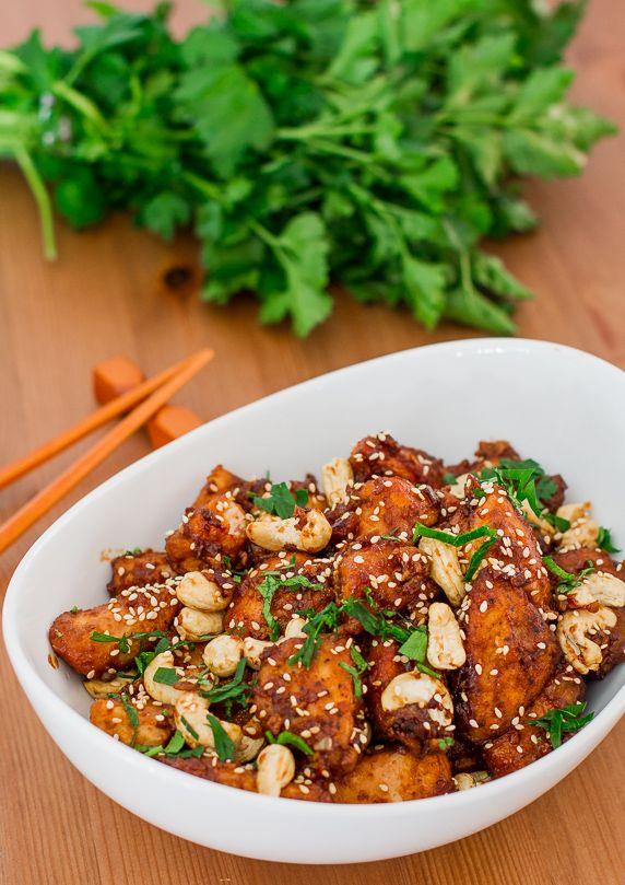 Crockpot Cashew Chicken - forget Chinese takeout, this right here is what you need!