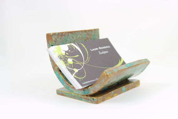 Ceramic Business Card Holder  Rustic Card Holder by ChiGallery, $18.00