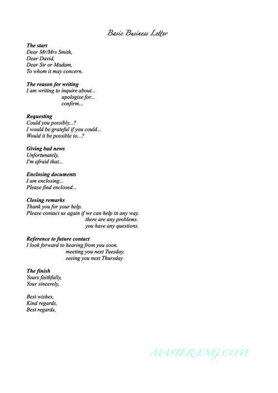Letter  English    English