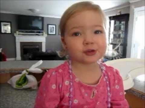 Two year old Makena Fedorick sings Adele someone like you...most adorable thing
