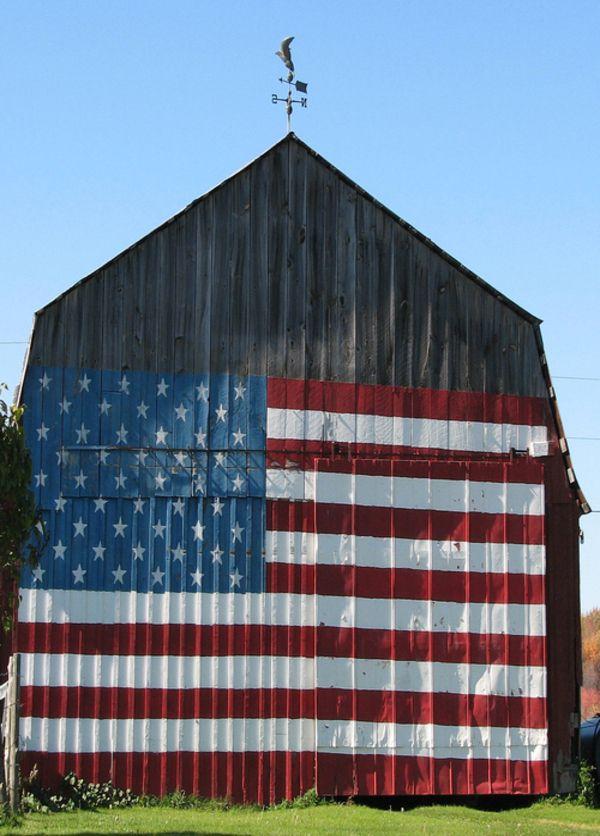 Barn Flag. USA style ... Awesome