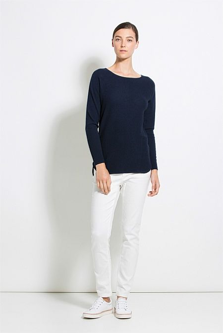 Curved Hem Knit - From Trenery