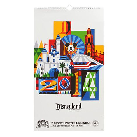 Disneyland Attraction Poster Calendar - 2014