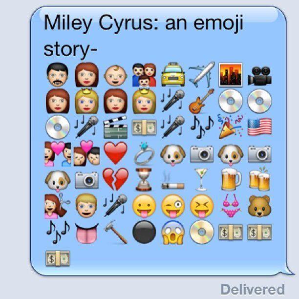 Miley Cyrus: An emoji story-