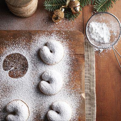 Biscuits croissants au beurre et aux pacanes