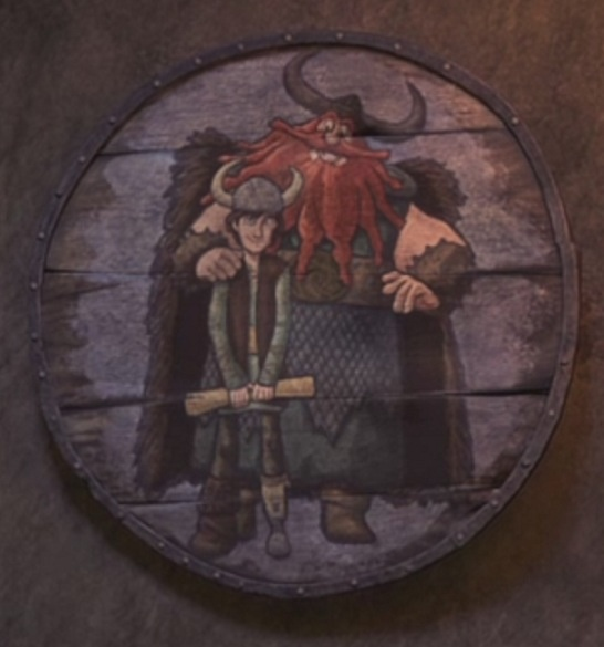Second and more accurate portrait of Hiccup and Stoick from Dragons: Riders of Berk, episode 8: Portrait of Hiccup as a Buff Young Man