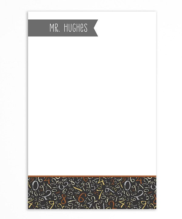 Look at this #zulilyfind! Gray & Burnt Orange Number Personalized Notepad by Libby Lane Press #zulilyfinds