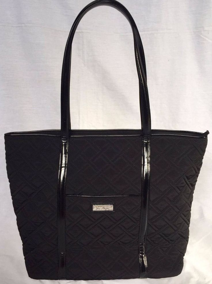 VERA BRADLEY Trimmed Vera Classic Black Tote Handbag New With Tags RRP 108USD in Clothing, Shoes, Accessories, Women's Bags | eBay!