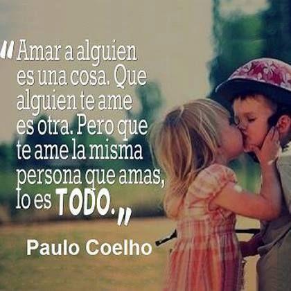 Frase de amor para invitaciones de Paulo Coelho