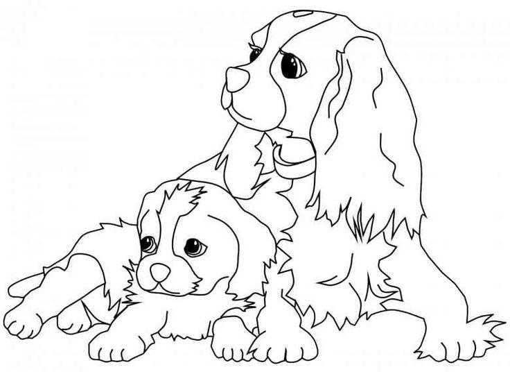 17 best ideas about Ausmalbilder Hunde on Pinterest | Easy drawing ...