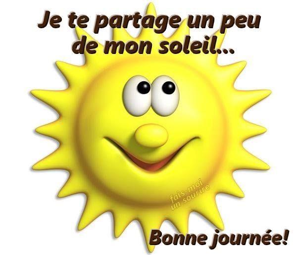Je te partage un peu de mon soleil... Bonne journée!