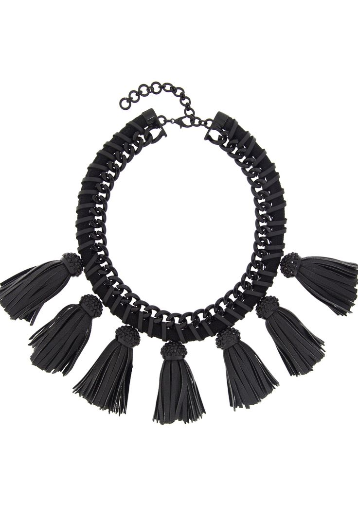 Lucinda Black Fringe Necklace