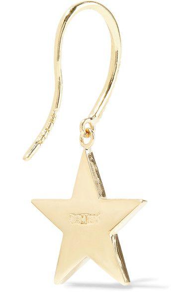 Jennifer Meyer - 18-karat Gold, Turquoise And Diamond Earrings