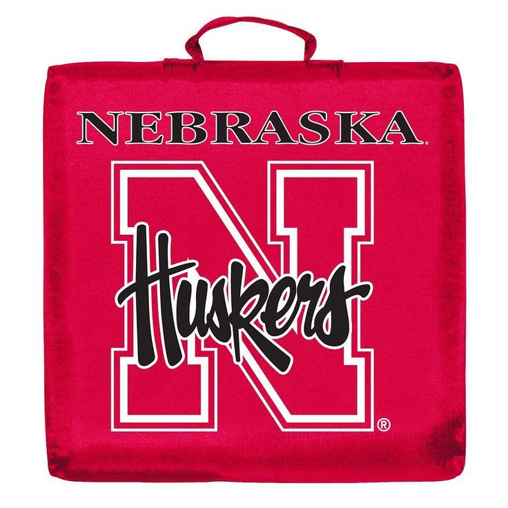 Logo Brand Nebraska Cornhuskers Stadium Cushion, Multicolor
