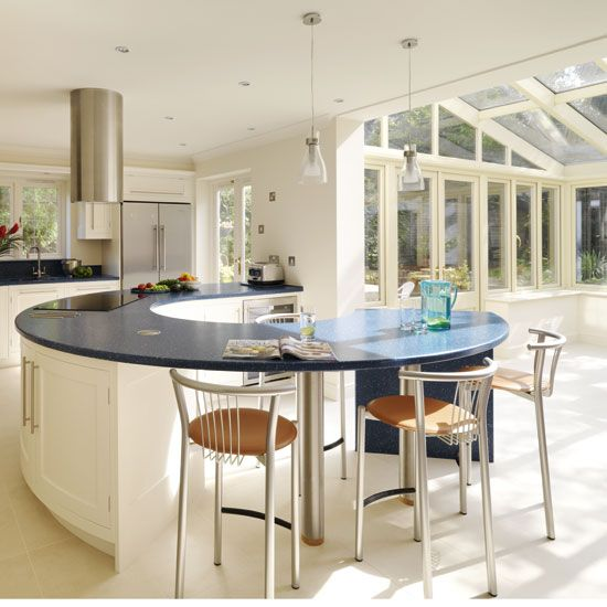 A kitchen island have many purposes and that is why it is a common part of many kitchen designs. It can serve as an additional eating space, it can feature some extra storage space, or