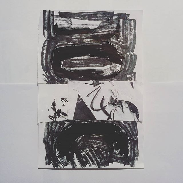 #inktober day 27 - drawing and collage by artist David Andrews. (#abstract #ink #drawing #collage #black #marker #pen #markers #blackandwhite #inktober2016)