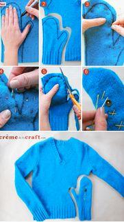 moufles pour l hiver en laine