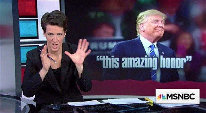 Rachel Maddow on Trump's Love Affair with Anti-Gay Birther Rag WorldNetDaily – WATCH