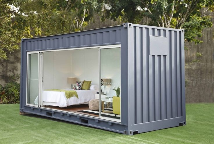 Small shipping container home