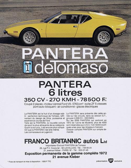 DeTomaso Pantera adv https://plus.google.com/+JohnPruittMotorCompanyMurrayville/posts