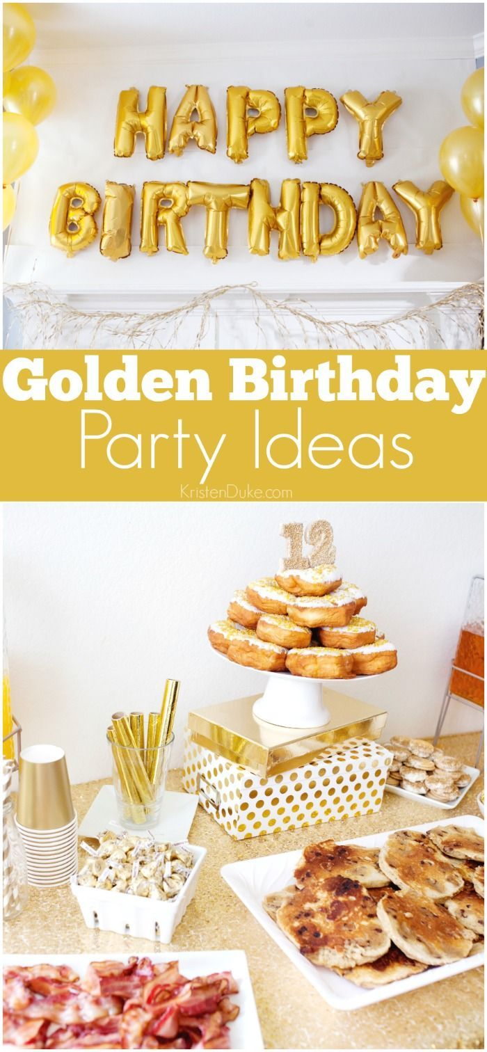 Golden Birthday Party Ideas. Fun gold themed party ideas that are simple. Easy birthday party ideas. www.Capturing-Joy.com