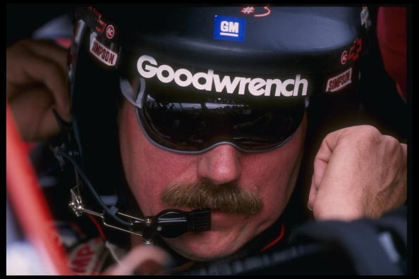27 Oct 1996: Dale Earnhardt looks on during the NASCAR Dura Lube 500 at the Phoenix International Raceway in Phoenix, Arizona.