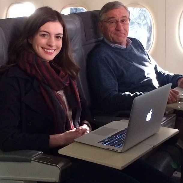 """Shooting Annie and Bob on a plane today! Love shooting on movie planes."" - nm 