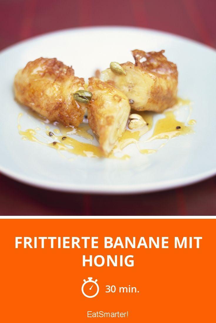 Frittierte Banane mit Honig