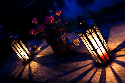 Lovely candle lights with flowers