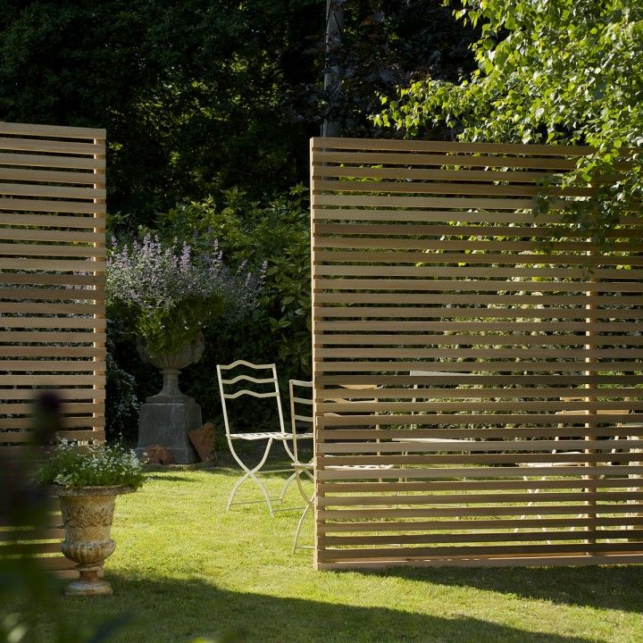 Western Red Cedar Slatted Screen